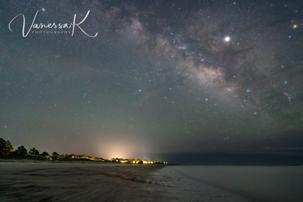Camp St. Christopher, Seabrook Island, Barrier Island, SC, South Carolina, stars, Milky Way, Jupiter, planets, galaxies, night, astrophotography,